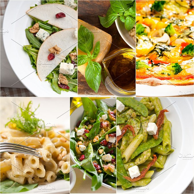 healthy Italian vegetarian food collage 20.jpg - Food & Drink