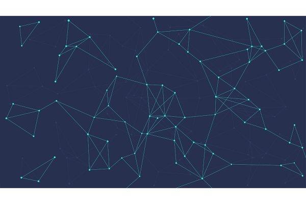 Blockchain technology futuristic ab…