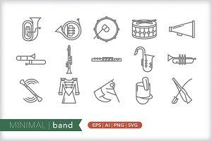Minimal band icons