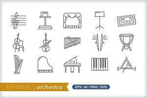 Minimal orchestra icons