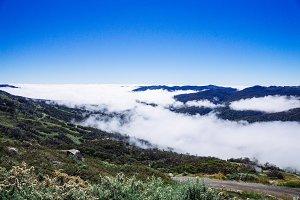 Mountain range over the cloud