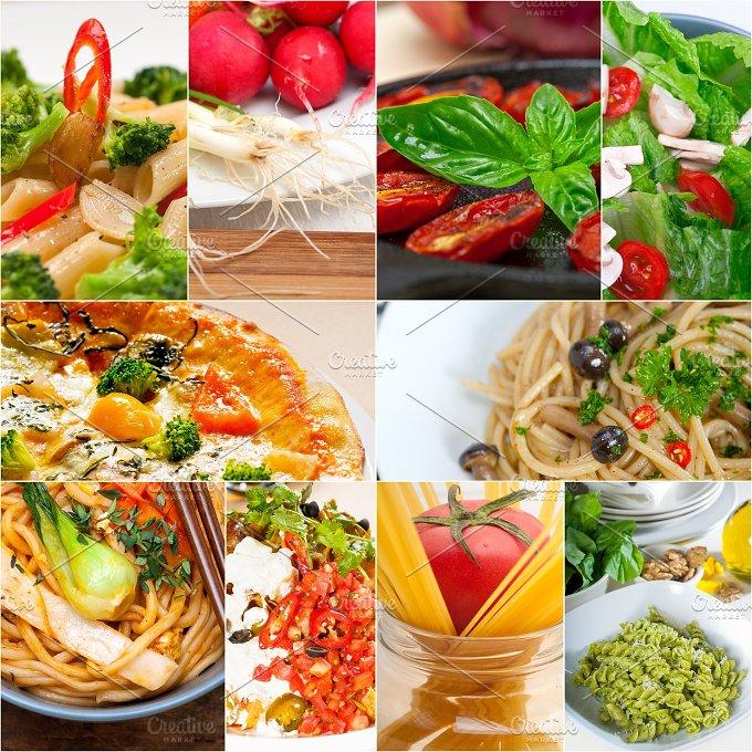 healthy vegetarian food collage 6.jpg - Food & Drink