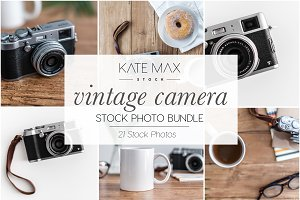 Vintage Camera Stock Photo Bundle