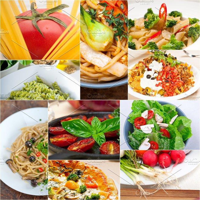 healthy vegetarian food collage 2.jpg - Food & Drink