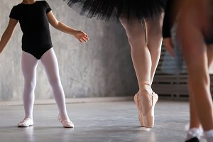 Close-up  ballerina dance