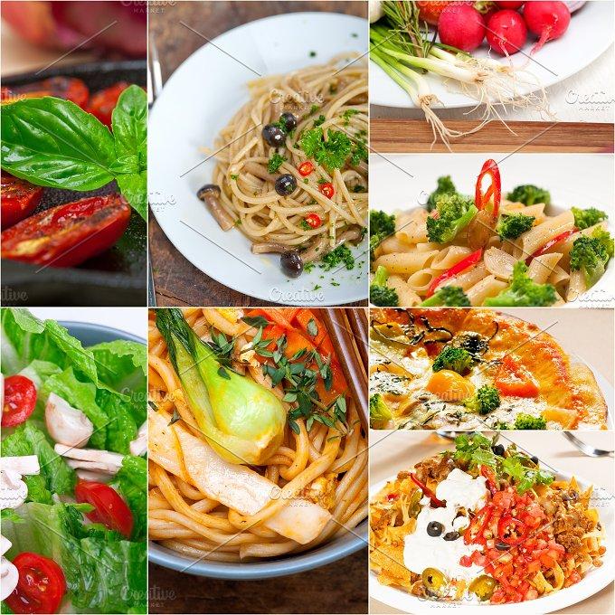 healthy vegetarian food collage 11.jpg - Food & Drink