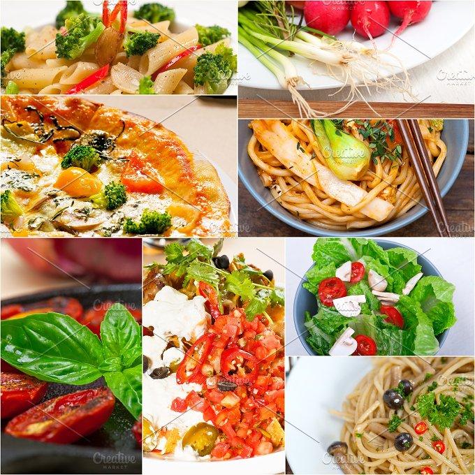 healthy vegetarian food collage 13.jpg - Food & Drink