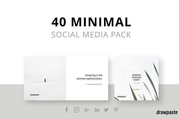 Minimal Social Media Pack ~ Social Media Templates ~ Creative Market