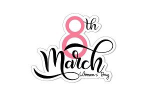 8 March. Women's Day Card