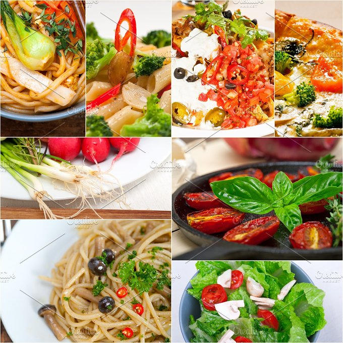 healthy vegetarian food collage 14.jpg - Food & Drink