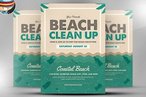 Beach Clean-up Flyer Template