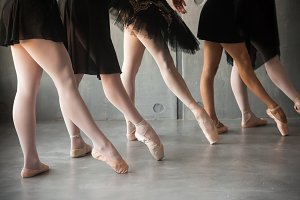 Close-up  ballet dance