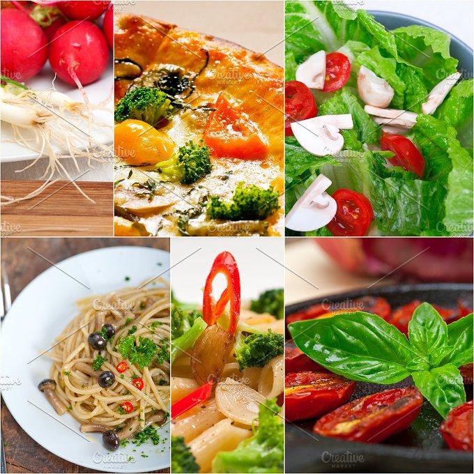 healthy vegetarian food collage 21.jpg - Food & Drink
