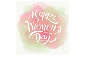Happy Women's Day Pink Card