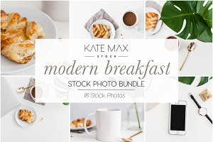 Modern Breakfast Stock Photo Bundle