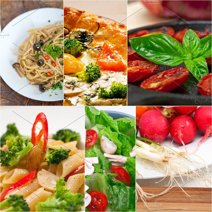 healthy vegetarian food collage 25.jpg - Food & Drink