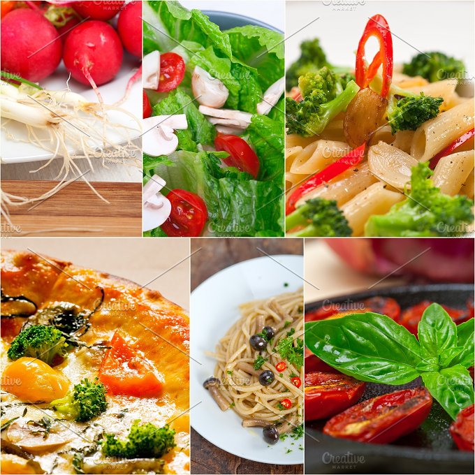 healthy vegetarian food collage 29.jpg - Food & Drink