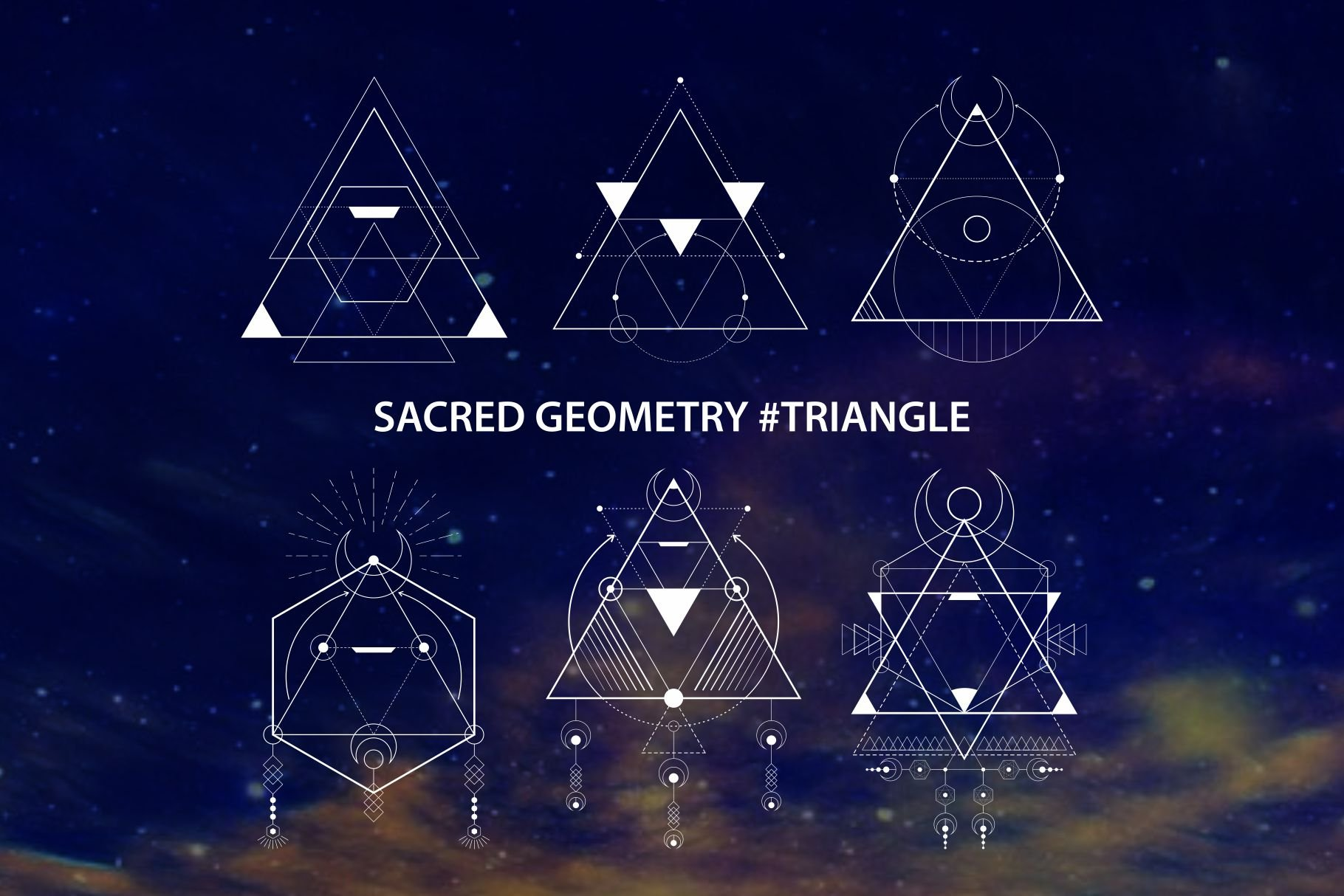 Sacred Geometry Triangle Illustrations Creative Market