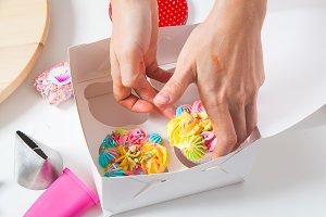 Appetizing cupcake