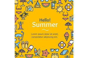Summer Time Round Design Template