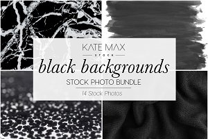 Black Background Stock Photo Bundle
