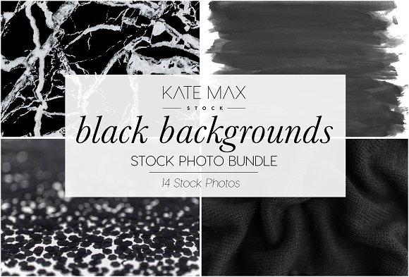 Black Background Stock Photo Bundle