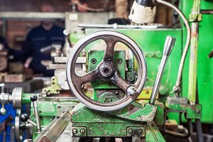 Green old lathe