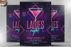 Ladies Night Flyer Template v2