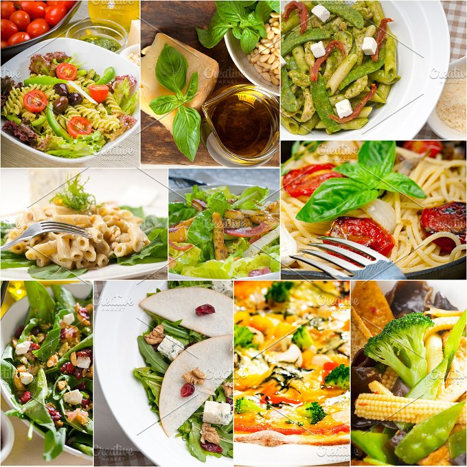 healthy vegetarian food collection collage 2.jpg - Food & Drink