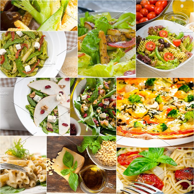 healthy vegetarian food collection collage 3.jpg - Food & Drink