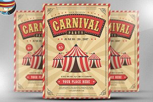 Carnival Event Party Flyer Template