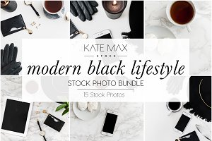 Modern Black Stock Photo Bundle