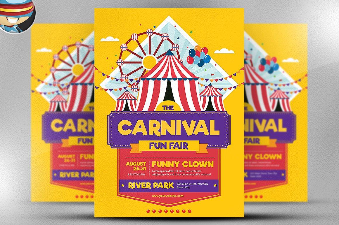 Carnival Funfair Event Flyer Flyer Templates Creative Market
