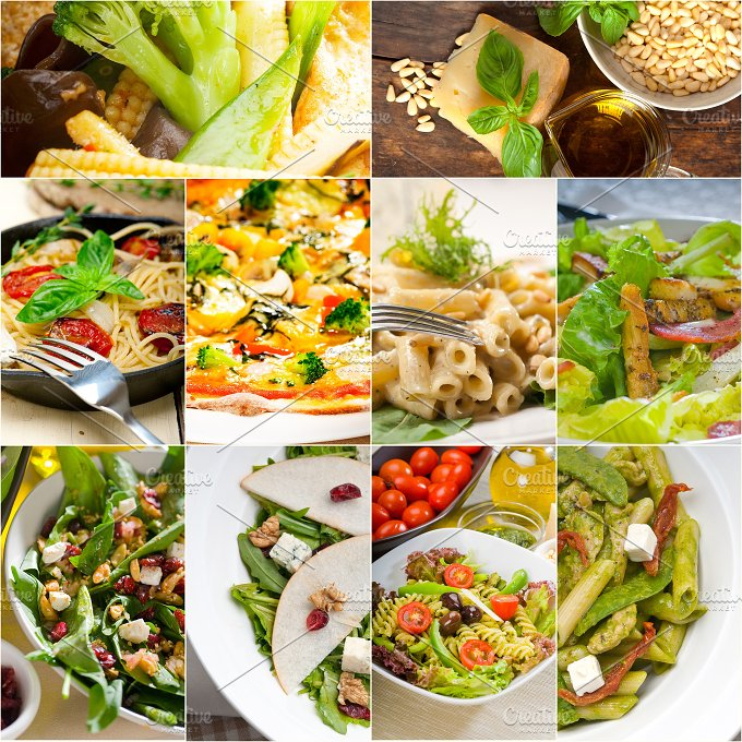 healthy vegetarian food collection collage 11.jpg - Food & Drink