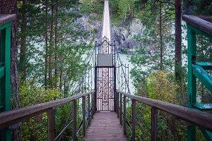 Bridge  over a mountain river