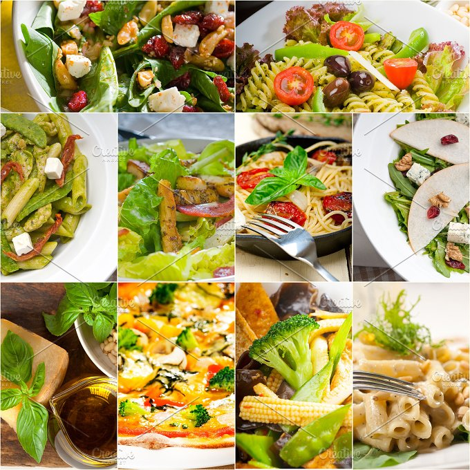 healthy vegetarian food collection collage 14.jpg - Food & Drink
