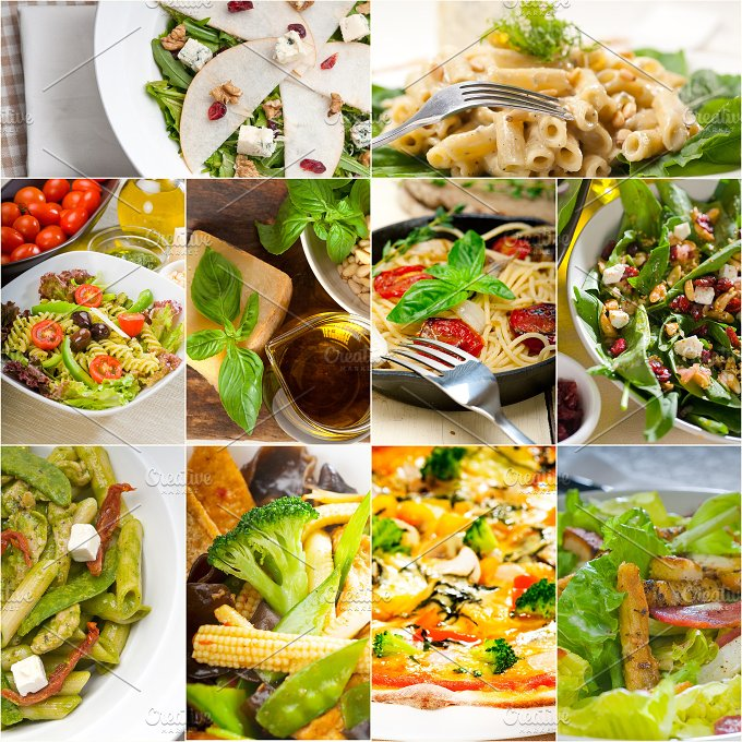 healthy vegetarian food collection collage 17.jpg - Food & Drink