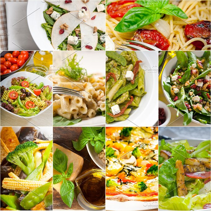 healthy vegetarian food collection collage 18.jpg - Food & Drink
