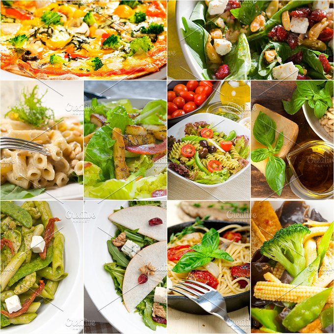 healthy vegetarian food collection collage 19.jpg - Food & Drink