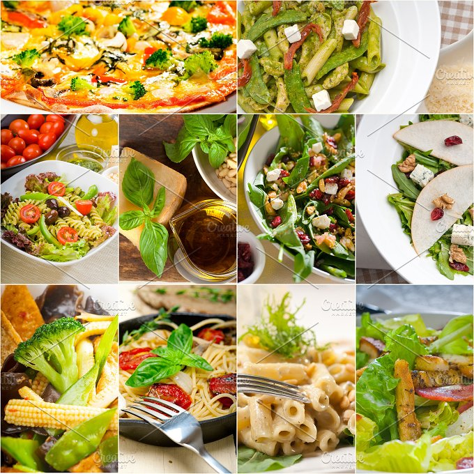 healthy vegetarian food collection collage 20.jpg - Food & Drink