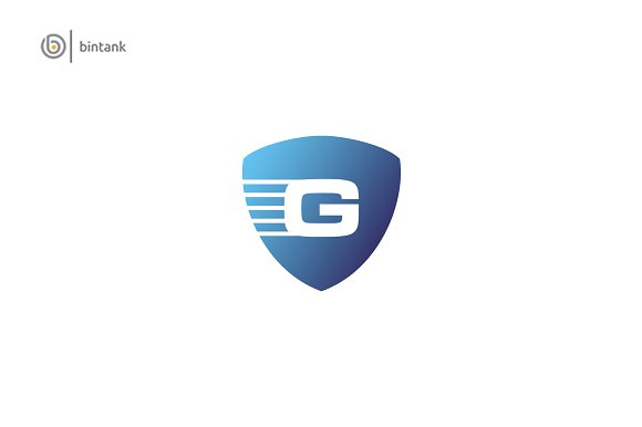 G Letter G Shield Logo