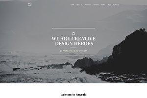 Emerald - Creative Minimal Onepage