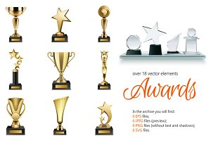 Awards Realistic Set