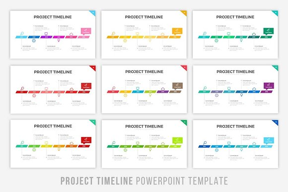 Project Timeline Keynote Version Presentation Templates - Project timeline powerpoint template