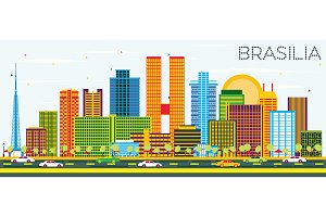 Brasília Brazil City Skyline