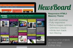 NewsBoard - Responsive Masonry Theme
