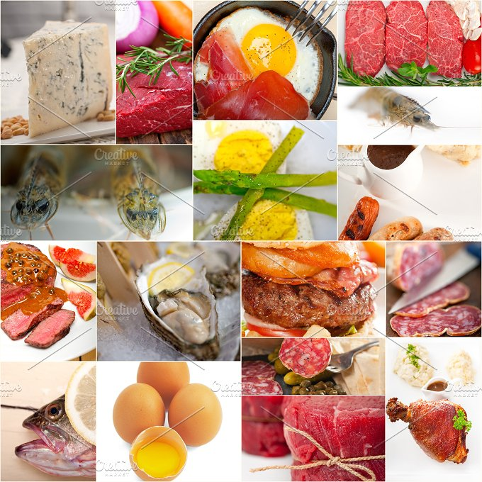 high protein content food collage 1.jpg - Food & Drink