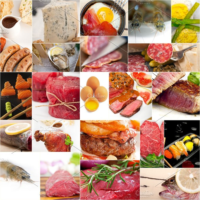 high protein food collage 20.jpg - Food & Drink