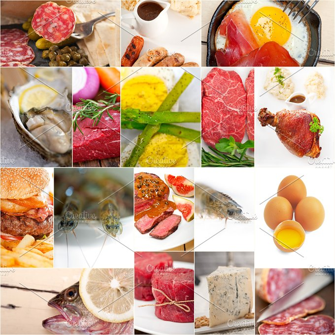 high protein content food collage 4.jpg - Food & Drink