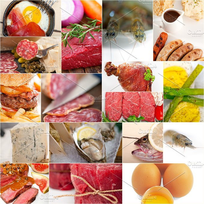 high protein content food collage 10.jpg - Food & Drink